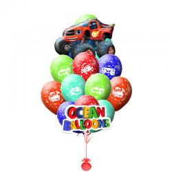 Композиция из 21 воздушных шариков Вспыш