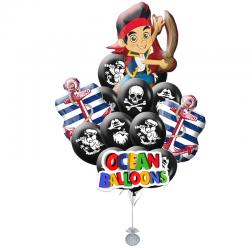 Композиция юный Джек пират состоит 20 воздушных шариков