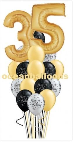 Праздничная композиция на День Рождения из 25 шариков