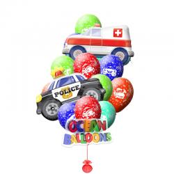 Букет из воздушных шаров «Машинки»