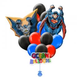 Букет из воздушных шаров «Бэтмен и супермен»