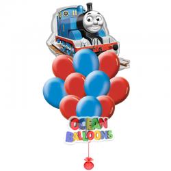 Композиция из воздушных шаров «Паровозик Томас 2»