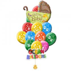 Букет из воздушных шаров «Для новорожденных»