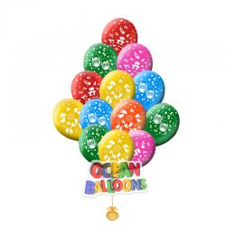 Разноцветные воздушные шары на выписку из роддома