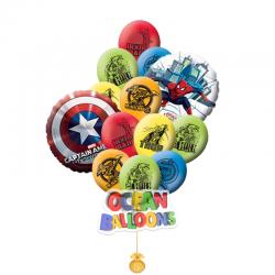 Композиция из шаров на день рождения  «Мстители»