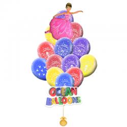 Композиция из ярких воздушных шаров С днем рождения Принцесса