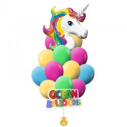 Композиция из воздушных шаров «Единорог»
