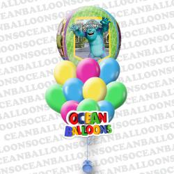 Композиция воздушных шариков  «Корпорация Монстров Сфера»