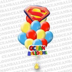 Набор воздушных шариков «Эмблема Супермена»
