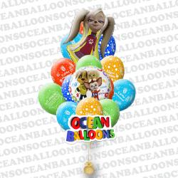 Набор воздушных шаров «Барбоскины» Роза .
