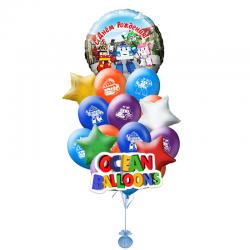 Композиция воздушных шаров «Робокар Поли»