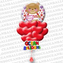 Композиция из воздушных сердечек на ден Святого Валентина Неожиданный подарок