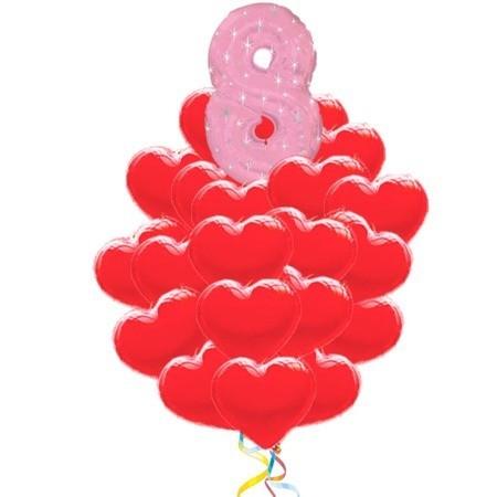 Букет из шаров «Любимой на 8 марта»