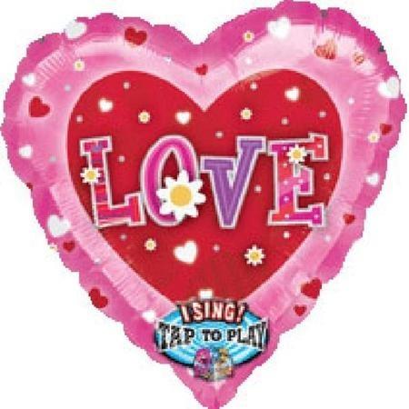 Шар музыкальный «Сердце» розовый