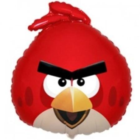 Фольгированный шар Красная птица - angry birds