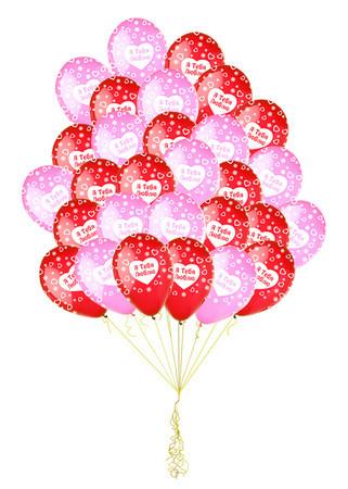 Букет «Облако Любви» из 30 воздушных шаров «Я люблю тебя»