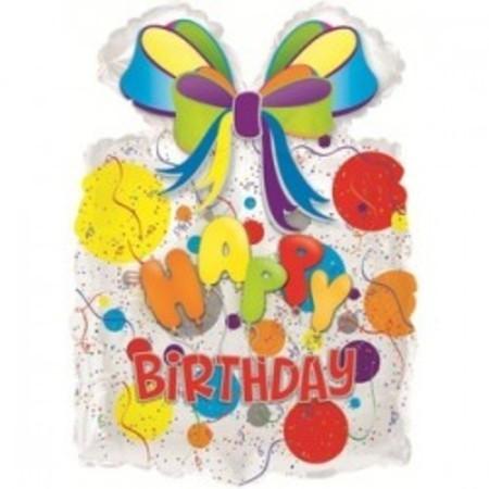 Шар из фольги «Мешок подарков - happy birthday»
