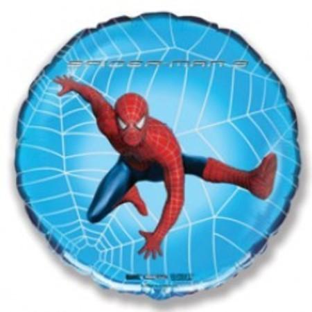 Фольгированный шар «Спайдермен в паутине»