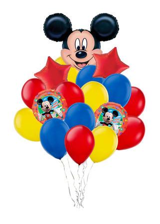 Букет «Поздравление от Микки» из 20 разноцветных шаров