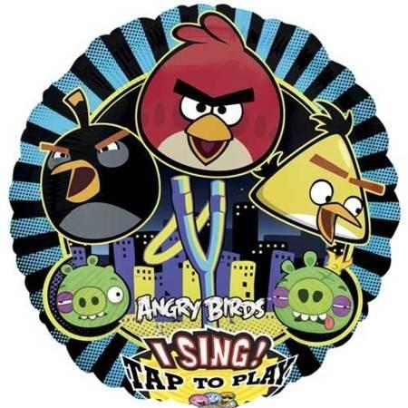 Шар музыкальный «Angry Birds»