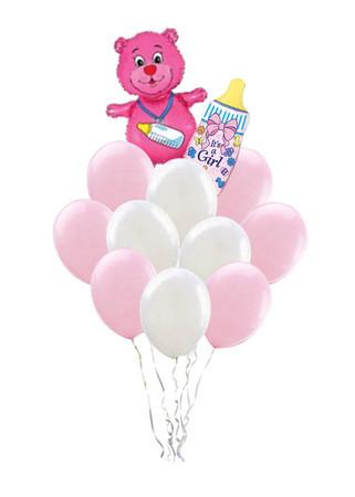 Букет «Маме и дочке» из 12 воздушных шаров и 2 фигур