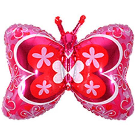 Фольгированный шар розовая бабочка
