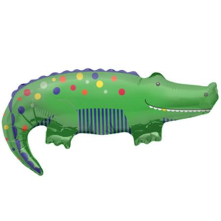 Фольгированный шар крокодил