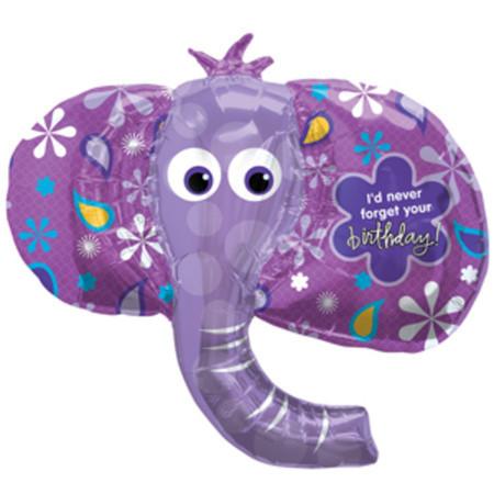 Фольгированный шарик синий слон