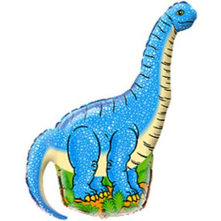 Фольгированный шарик Голубой динозавр