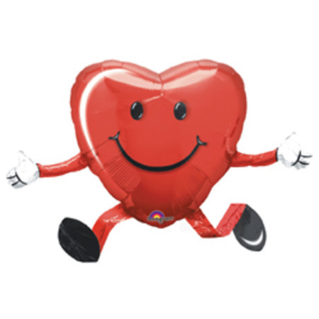 Ходячий воздушный шарик «Сердце»