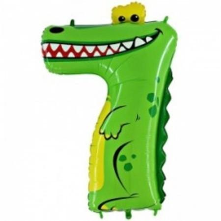 Цифра 7 - Крокодил