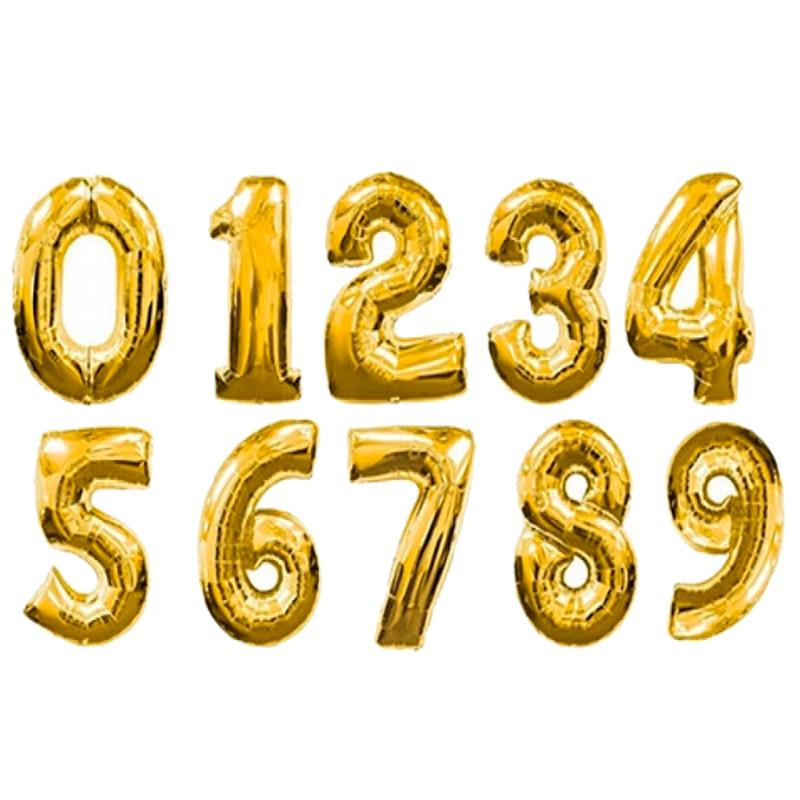Шары из фольги «Золотые цифры»