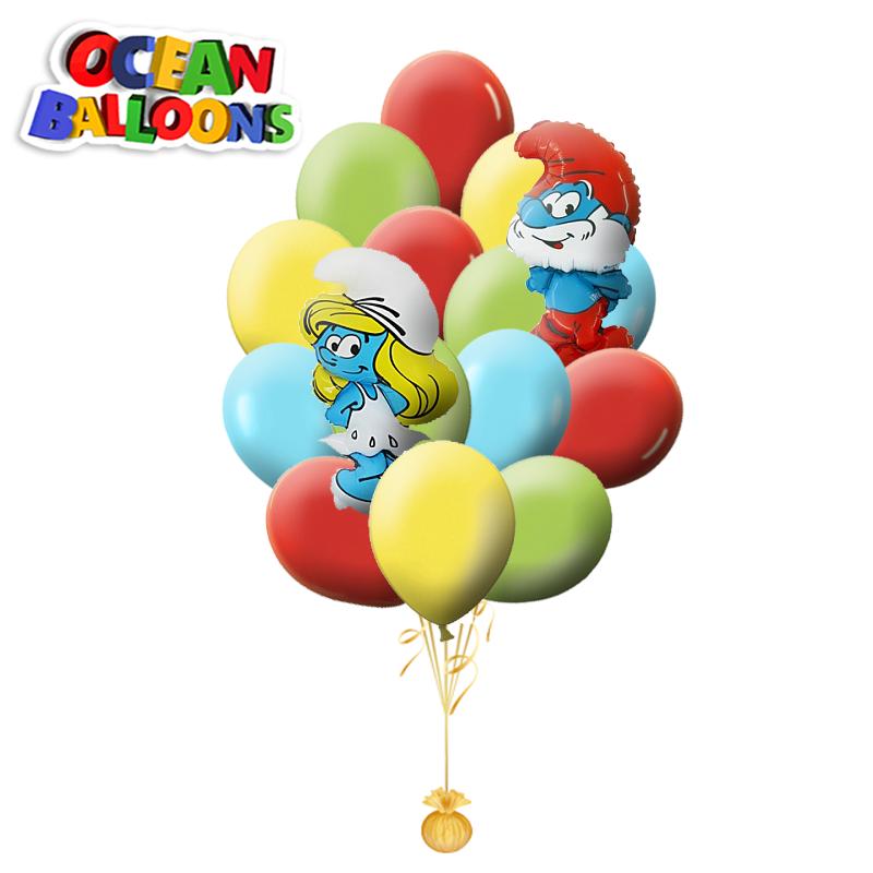 Букет для детей «Смурфики» из 20 шаров