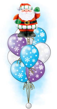 Букет «Дед мороз» из 21 шара