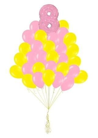 Букет из шаров на День Рождения девочке 27 шт