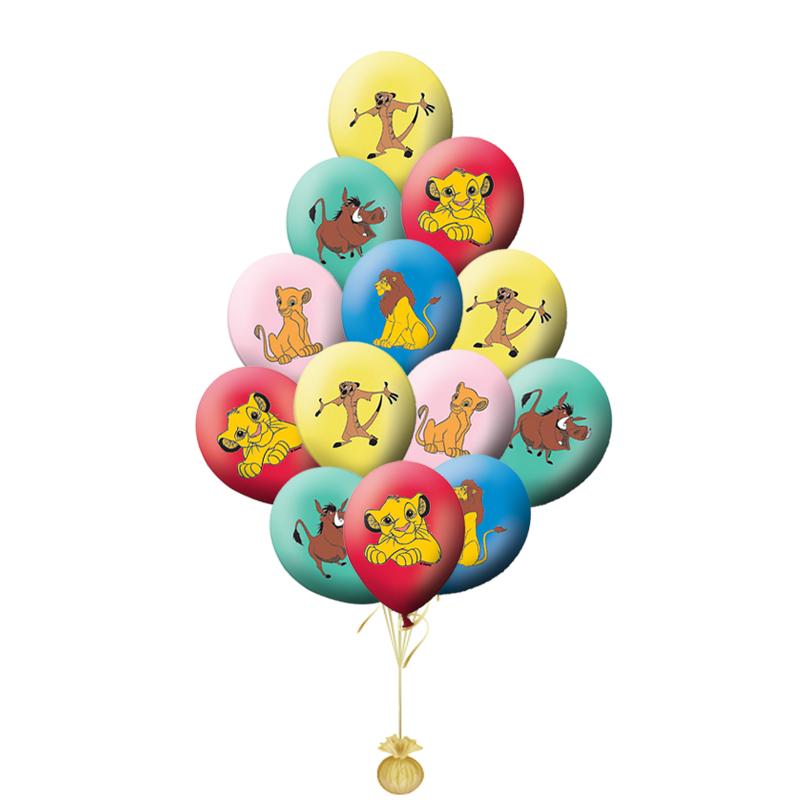 Гелевые воздушные шары «Дружная компания Симбы»