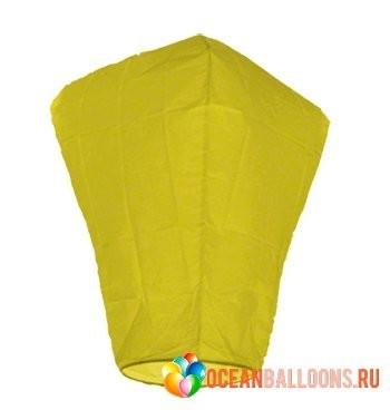 Китайский небесный фонарик желтый