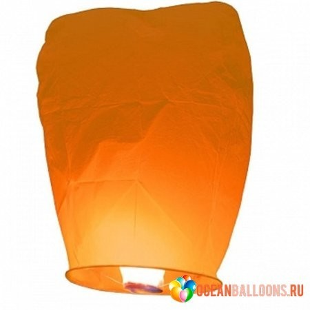 Воздушный фонарик оранжевый