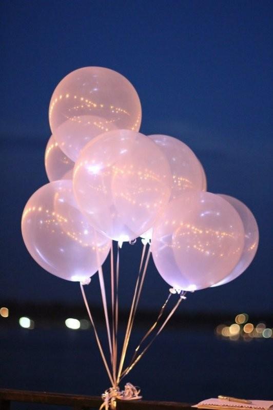 Перламутровые светящиеся шары на свадьбу