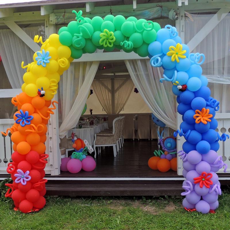 Арка из воздушных шариков на детский праздник