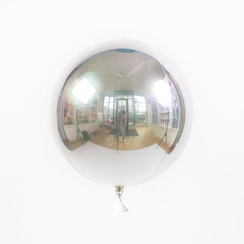 Шар Сфера 3D, Серебро