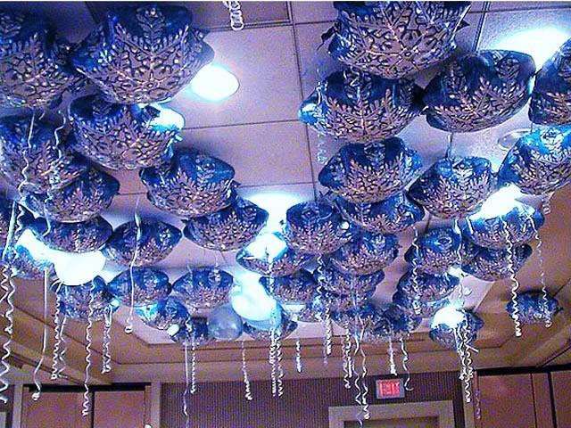 Фольгированные шары под потолок