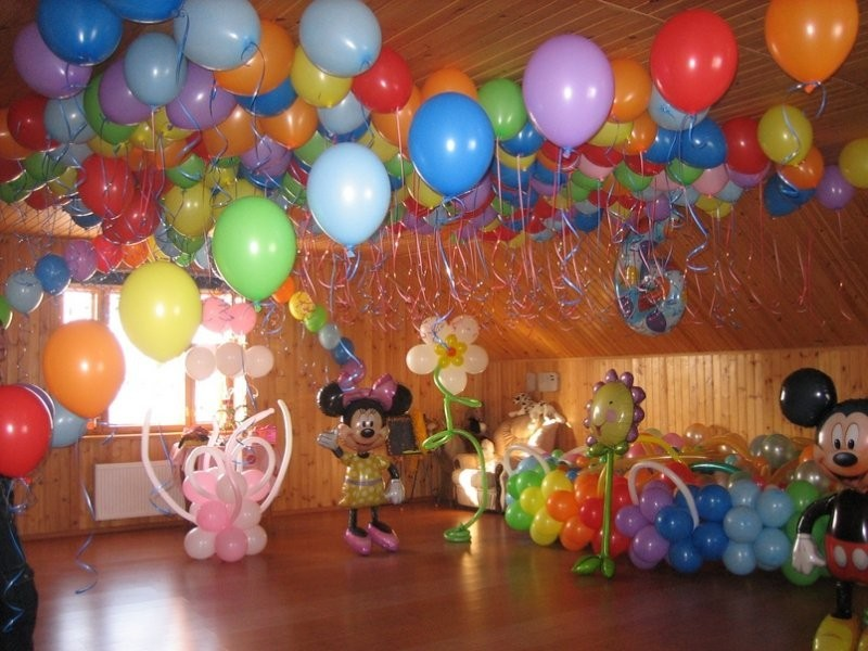 Украшение детской комнаты в День рождения
