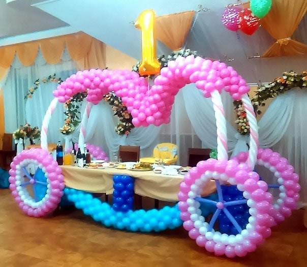 Праздничный стол-карета в детский День рождения