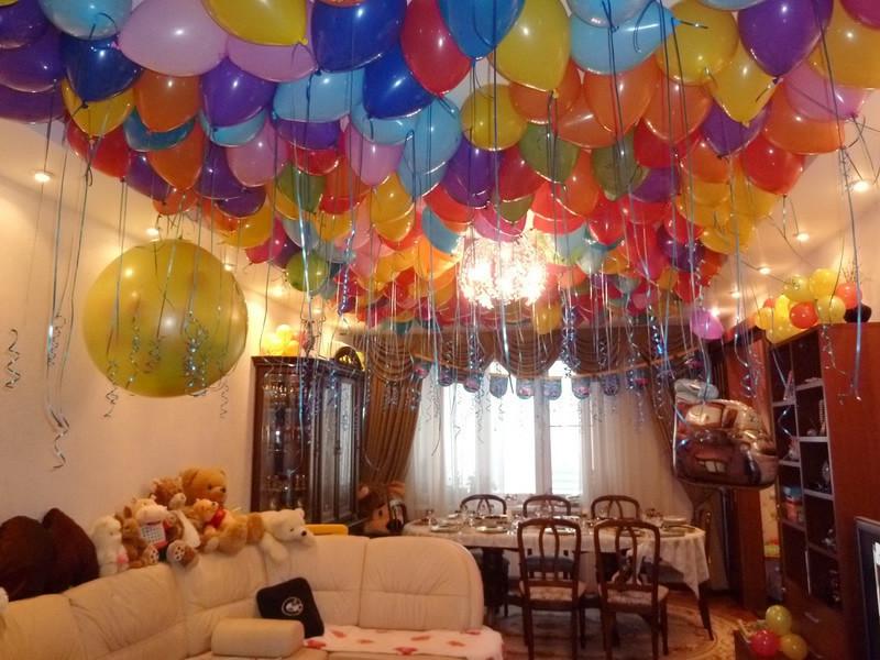 Шары под потолок домашний День рождения