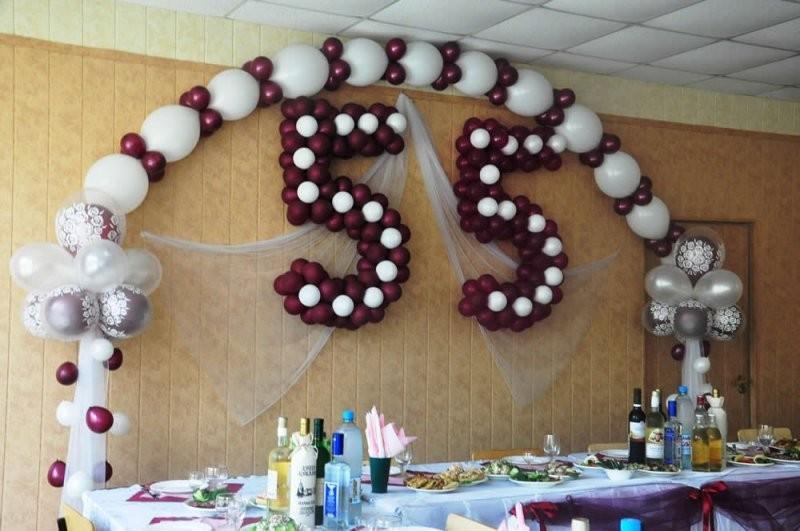 Цифры из шаров в День рождения