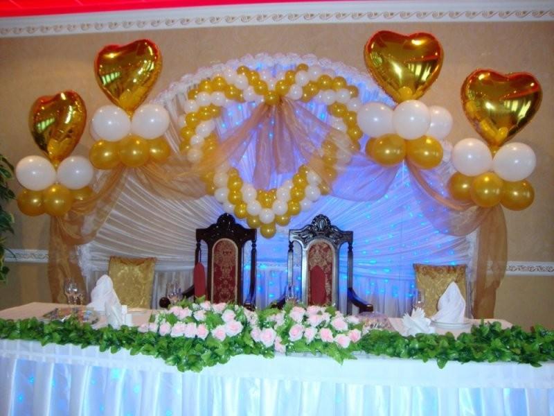 Сердце из шаров на свадьбу