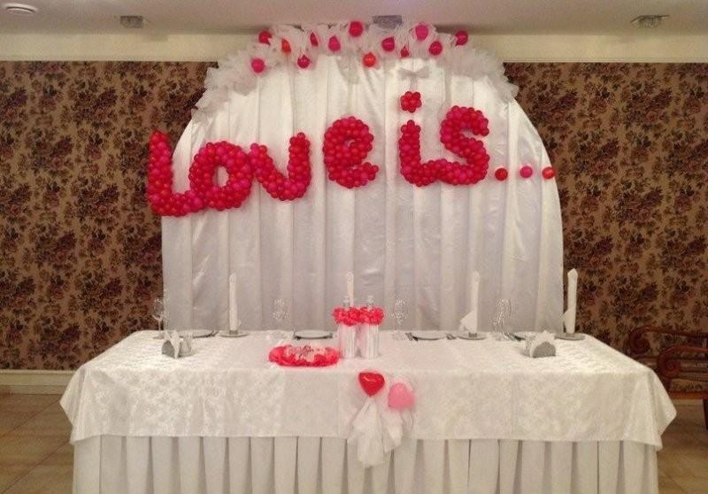 Свадебная надпись из шаров