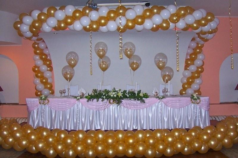 Свадебное украшение места молодоженов