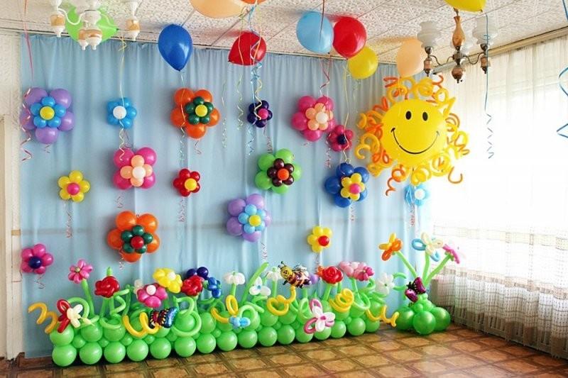 Выпускной в детсаду солнышко и цветы